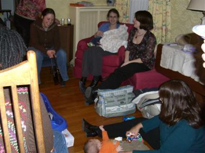 Rhonda, Alyssa, Stef (with Xander), Cate, Saru (with Ryan)