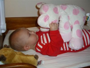 Josie with her pink elephant