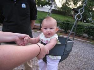 Josie in the swing