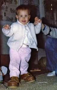 Jen in grandpa\'s shoes