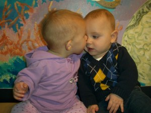 Josie kissing Harrison