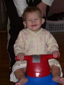 Josie on her racing cart