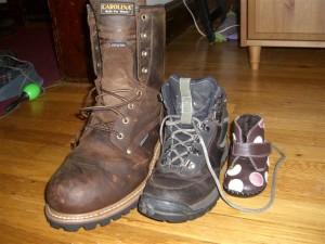 Jordi, Jen and Josie's boots