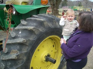 Josie, grandma and the tractor