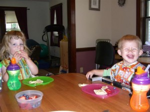 Jane and Josie having lunch