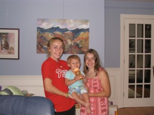 Cousin Abby and Ally with Josie