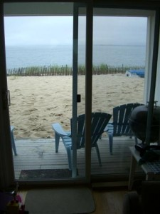 View from the condo onto the beach (Truro, Cape Cod)