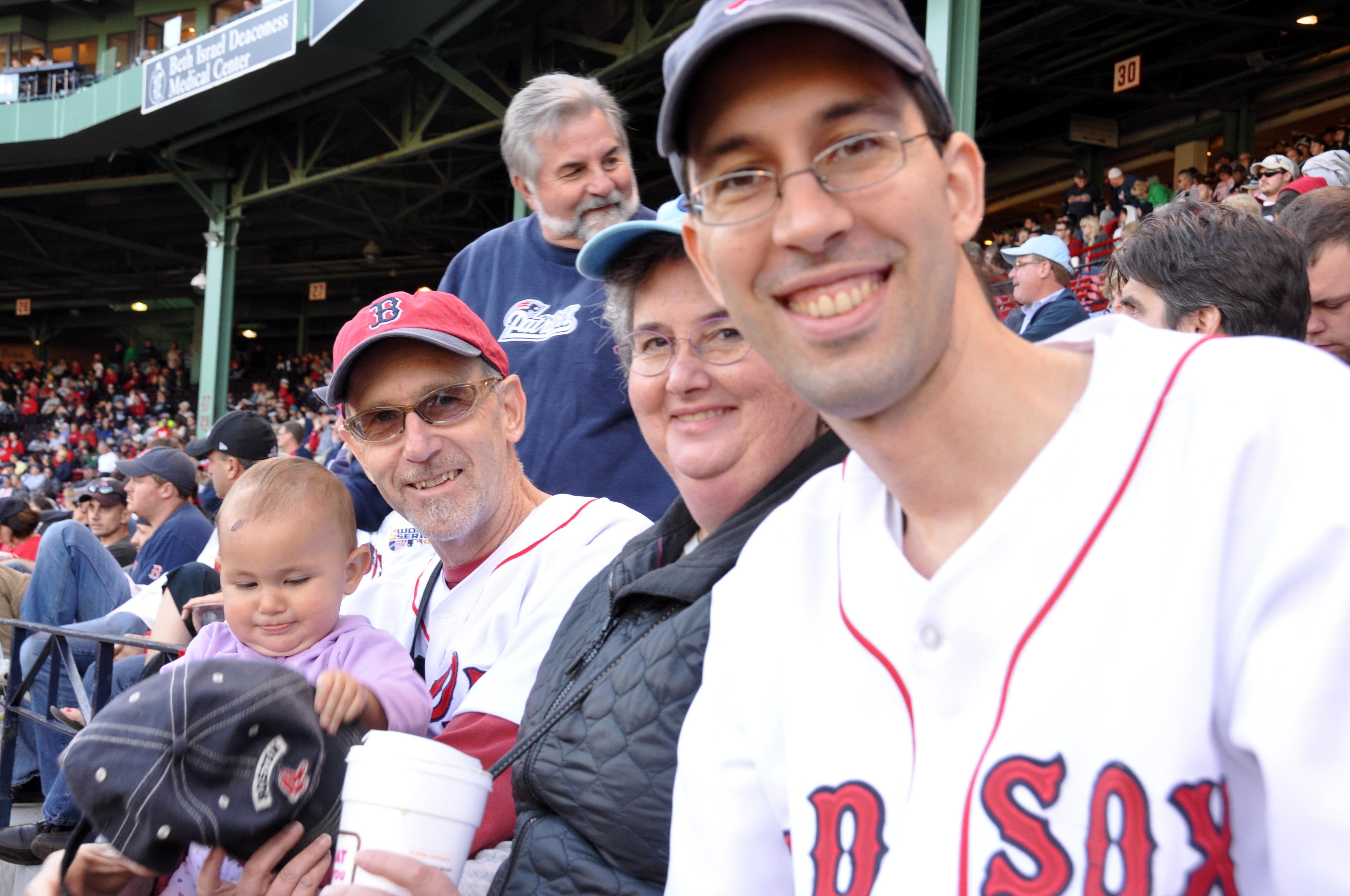 Celia, Mike, Karen and Jordi in the good seats