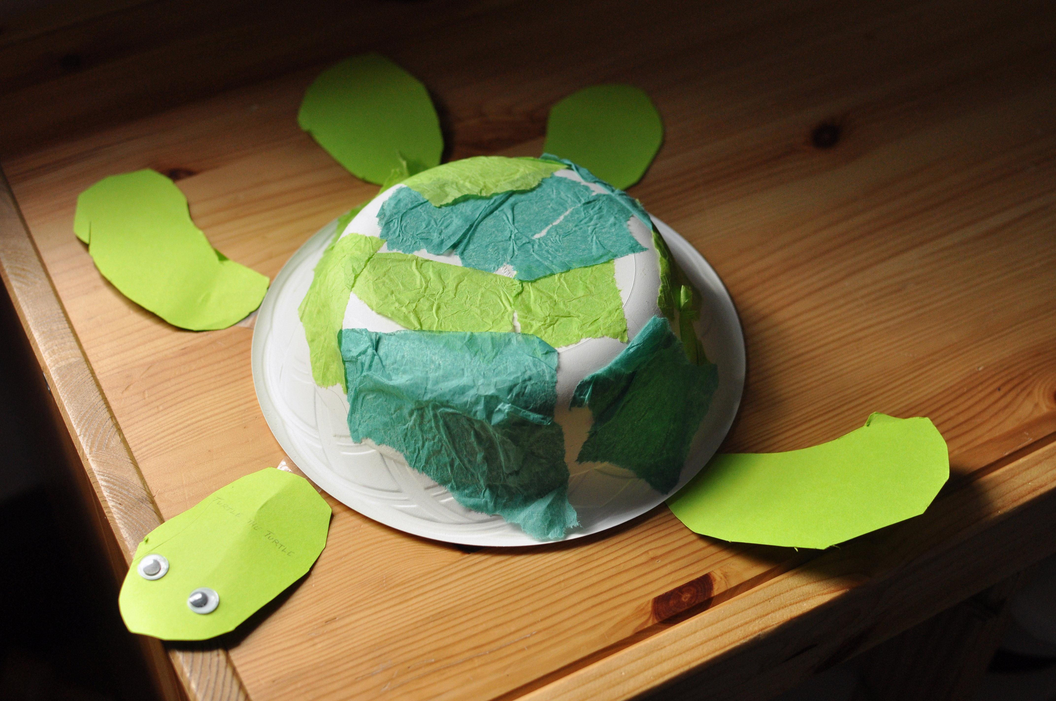 Paper bowl turtle