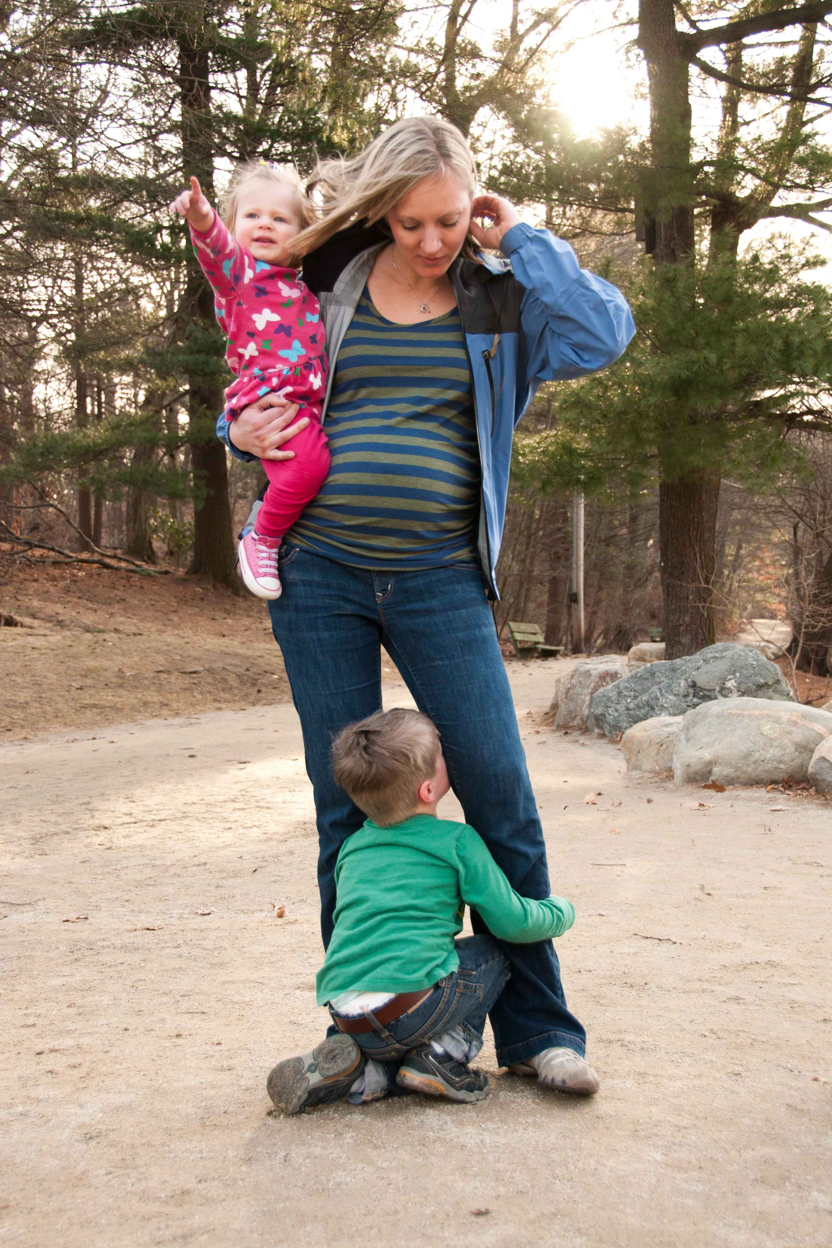 Vibrant mom Chrissie with Claire and Nolan