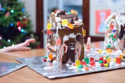 Celia's gingerbread house