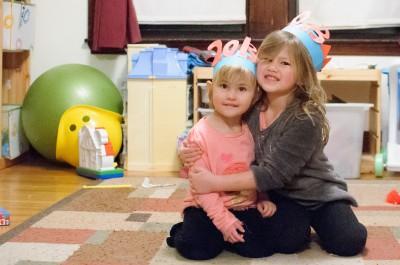 Celia and Josie celebrating the new year