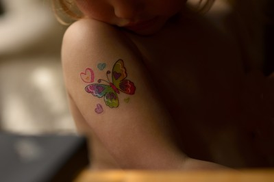 Celia's butterfly tattoo