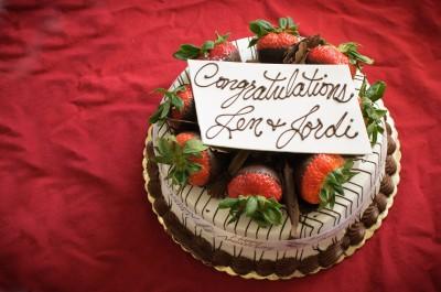 Jen and Jordi's anniversary cake