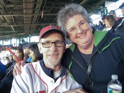 Mike and Karen enjoying the game