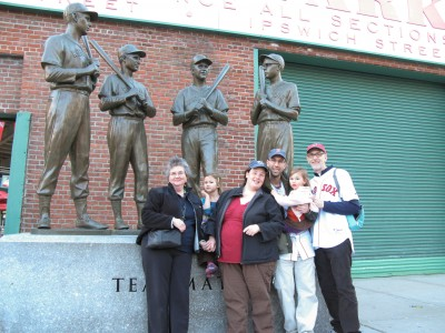 All of us outside the ballpark