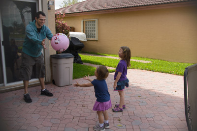 Playing catch with Tio Javi
