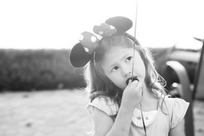 Josie backlit in mini-ears