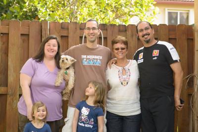 Celia, Jen, Simba, Jordi, Josie, Tere and Gilbert