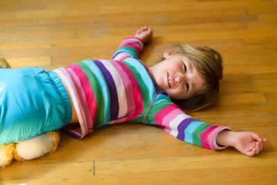 Celia on the floor