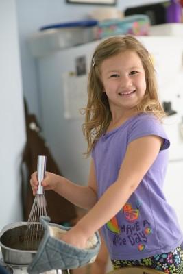 Josie stirring the pot