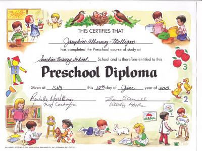 Josie diploma