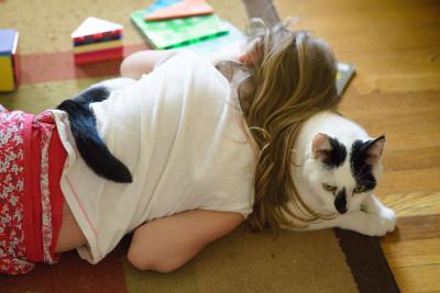 Josie hugging George