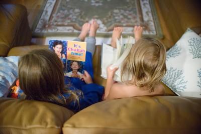 Josie and Celia reading