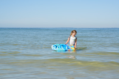Josie and her boogie board