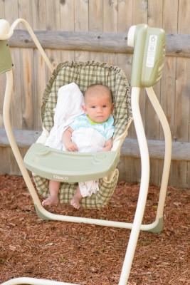 Ewan in the swing