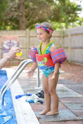 Celia at the pool