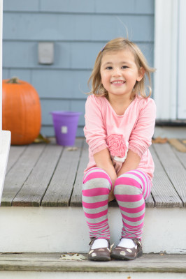 Celia, 3, on the porch
