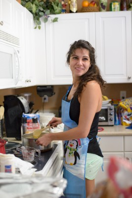 Vani cooking dinner