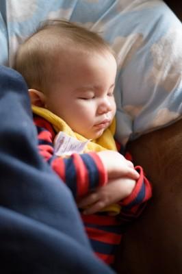 Ewan sleeping on the couch