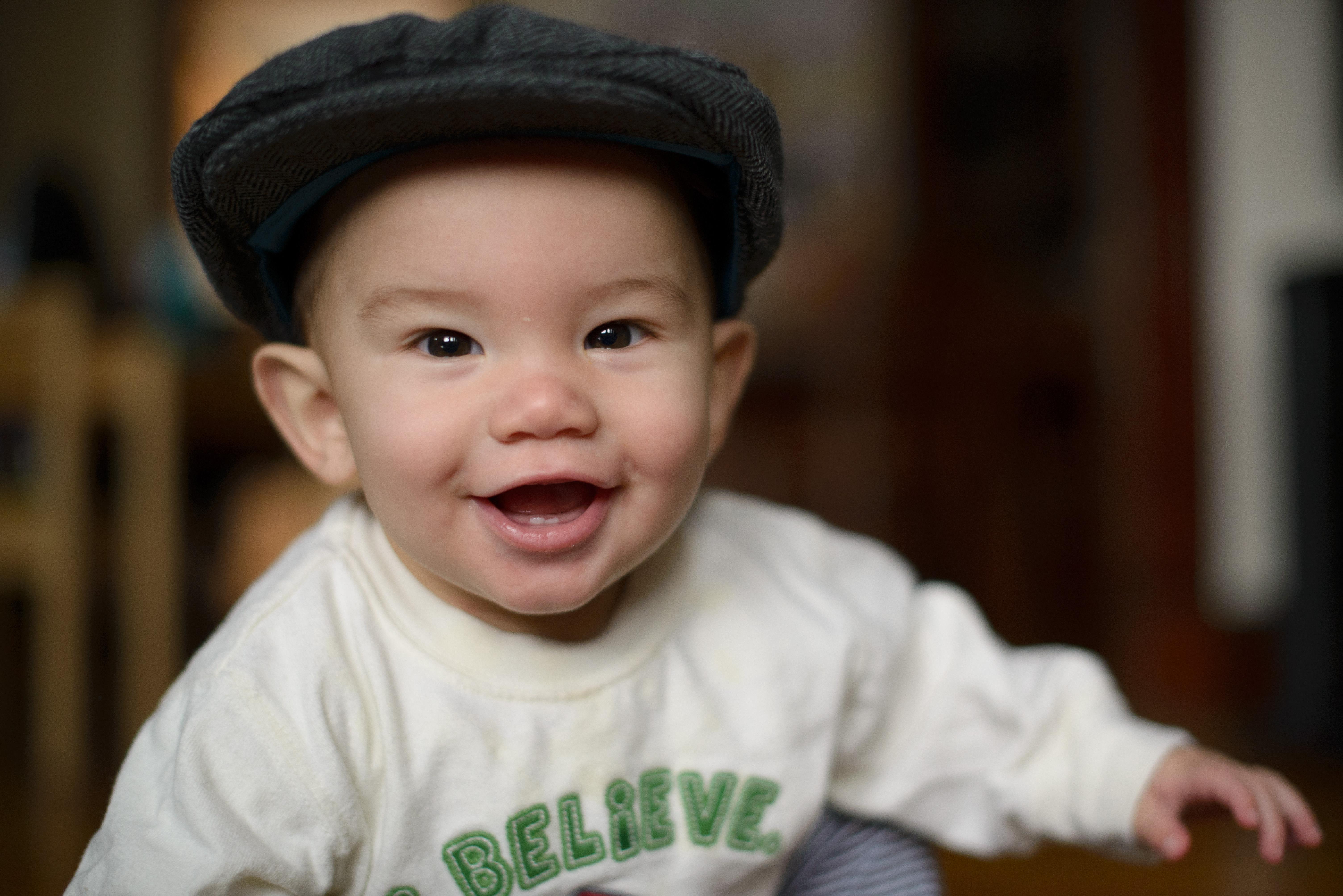 Ewan at six months - two teeth!
