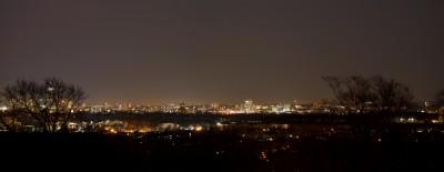 Boston at night in April