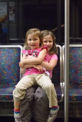 Girls actual behavior on the train