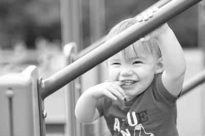 Ewan on the playground