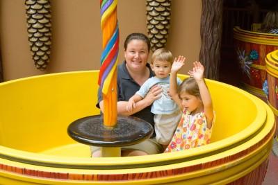 Jen, Ewan and Celia in the cups