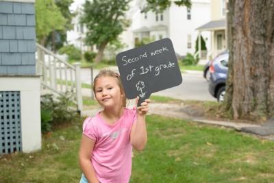 Josie's second week of first grade
