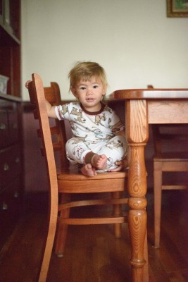 Ewan on the chair