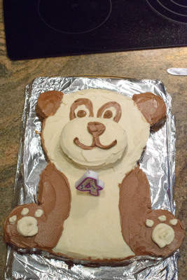 2 and 4 layer panda cake!