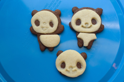 Panda cookies! too cute to eat?