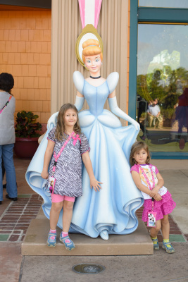 Josie and Celia with Cinderella