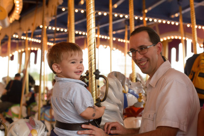 Ewan on the carousel