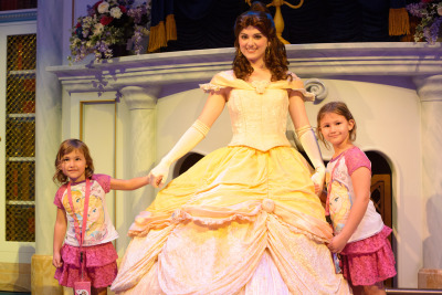 Celia and Josie with Belle