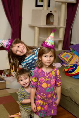 The kids on my birthday