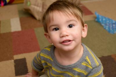Ewan smiling