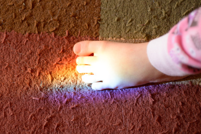 Celia's foot rainbow