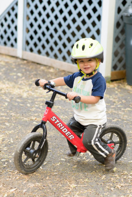 Ewan on his bike